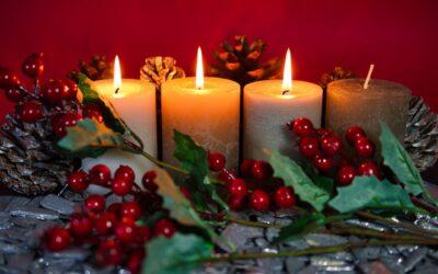 Adventskrans & kalenderlys
