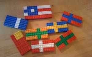 Byg flag af Duplo klodser